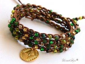 bratara-wrap-colier-versatil-toho-foita-aur-snur-bumbac-natural-bijuterii-eco-boho-style-unicatbiju-smarald-salba