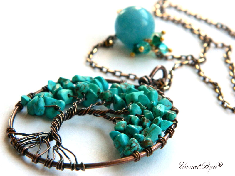 colier-lant-bronz-bijuterii-semipretioase-unicat-copacul-vietii-turcoaz-angelit-cristale-swarovski-unicatbiju