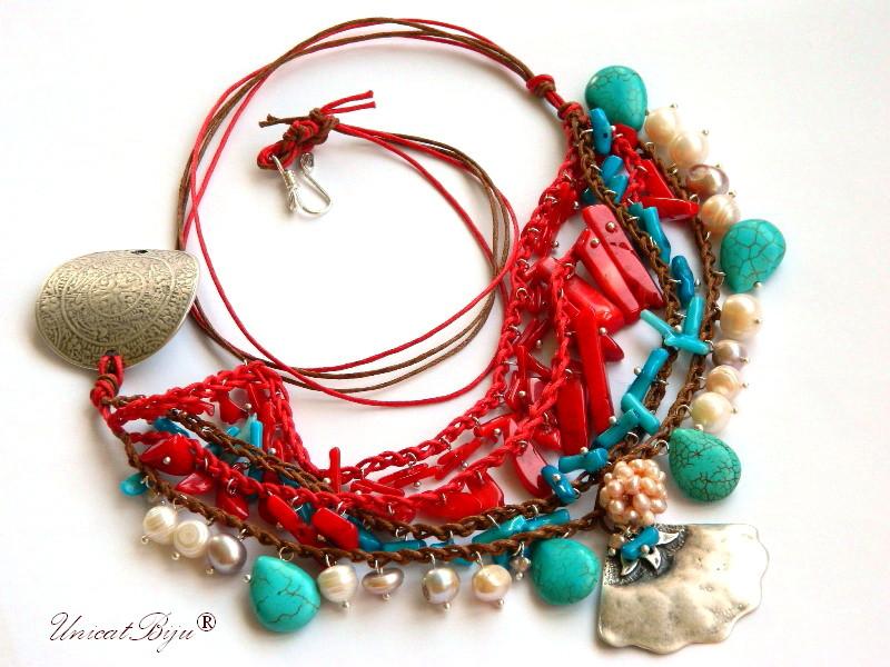 colier-statement-bijuterii-eco-unicat-semipretioase-coral-sidef-perle-argintat-masiv-turcoaz-vara-bumbac-cerat-unicatbiju