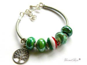 bratara-tip-pandora-piele-naturala-metalizata-perle-murano-foita-argint-copacul-vietii-unicatbiju