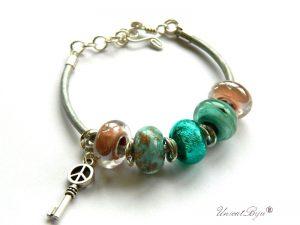 bratara-tip-pandora-piele-naturala-metalizata-perle-murano-foita-argint-flower-power-unicatbiju