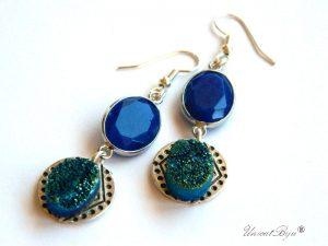 cercei-etnic-boho-style-jad-albastru-pirita-argintat-unicatbiju-semipretioase