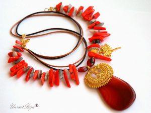 colier-coral-orange-bijuterii-semipretioase-unicat-statement-agat-botswana-aurit-libelula-pandantiv-agat-unicatbiju