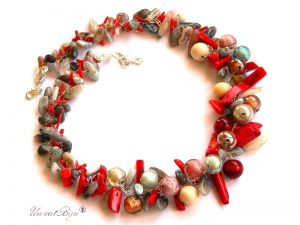 colier-statement-bijuterii-semipretioase-unicat-agat-botswana-perle-murano-coral-rosu-masiv-unicatbiju