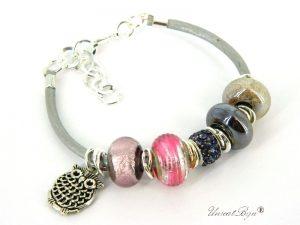 bratara-tip-padora-perle-murano-cristale-swarovski-snur-piele-naturala-bufnita-argintata-unicatbiju