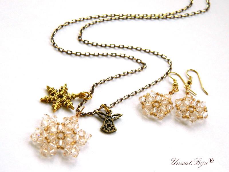 colier-cristale-swarovski-fulg-zapada-auriu-ingeras-cercei-lungi-bronz-bijuterii-unicat-cadouri-craciun-unicatbiju