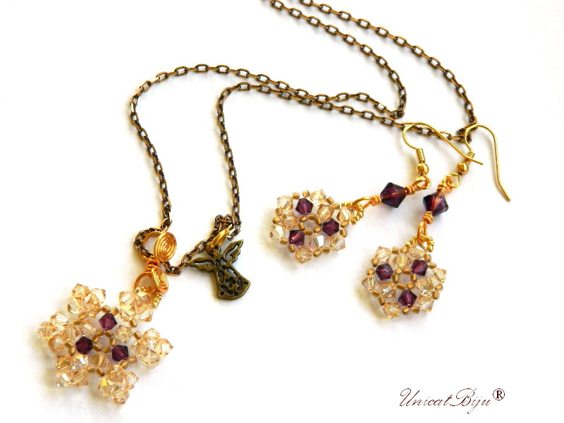 colier-cristale-swarovski-fulg-zapada-mov-ingeras-cercei-lungi-bronz-bijuterii-unicat-cadouri-craciun-unicatbiju