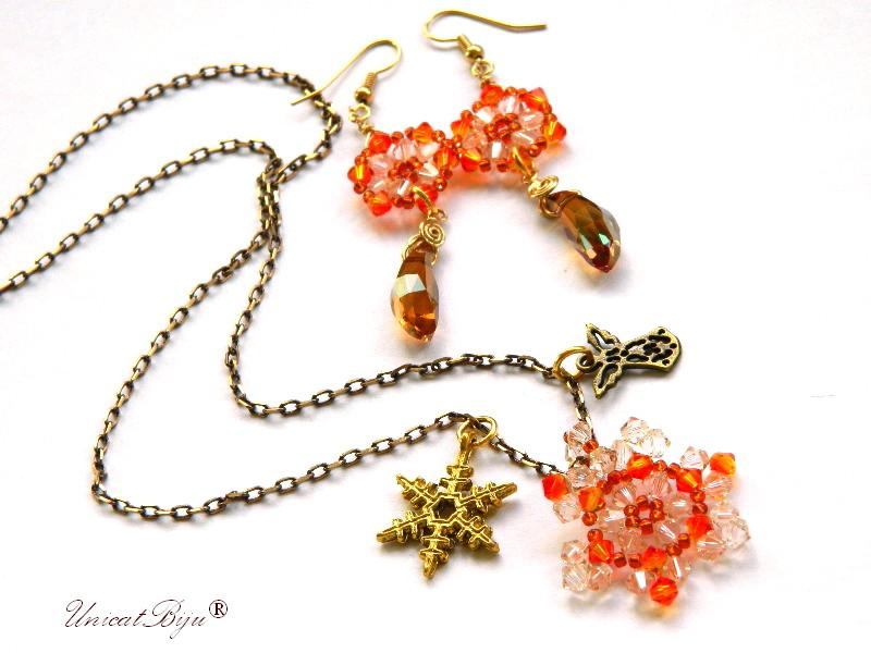 colier-cristale-swarovski-fulg-zapada-orange-ingeras-cercei-lungi-bronz-bijuterii-unicat-cadouri-craciun-unicatbiju