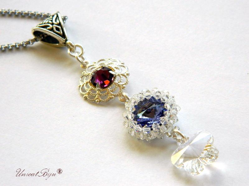 colier-cristale-swarovski-statement-tanzanite-bijuterii-unicat-cadouri-craciun-unicatbiju