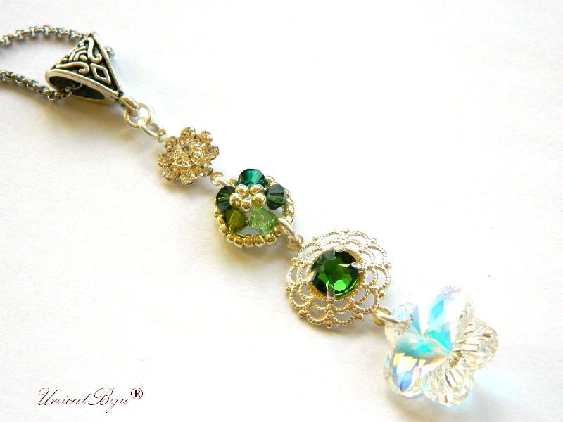 colier-cristale-swarovski-statement-verde-bijuterii-unicat-cadouri-craciun-unicatbiju