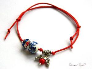 bratara-martisor-ceramica-pictata-flori-cristale-swarovski-aripi-argintate-coral-talisman-rosu-unicatbiju