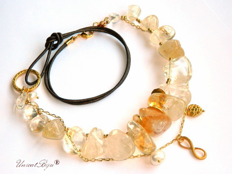 colier-citrin-masiv-bijuterii-semipretioase-unicat-statement-aurit-piele-naturala-unicatbiju