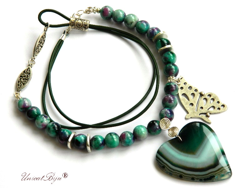 colier-jad-candy-verde-bijuterii-semipretioase-unicat-pandantiv-agat-inima-fluture-argintat-primavara-unicatbiju