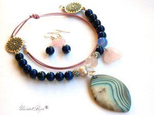 colier-lapis-lazuli-cuart-roz-pandantiv-agat-frosted-piele-naturala-bijuterii-semipretioase-unicat-argintat-unicatbiju