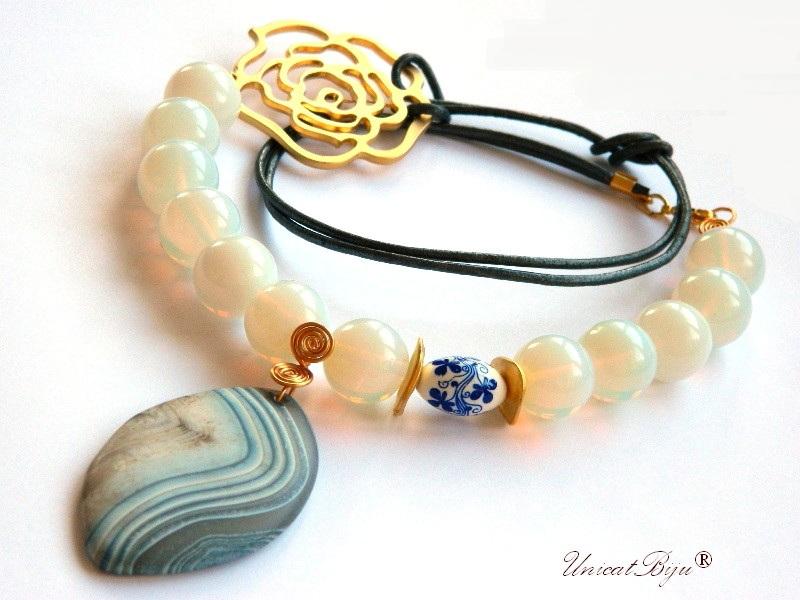 colier-opal-masiv-bijuterii-semipretioase-unicat-floare-aurita-ceramica-pictata-agat-frosted-statement-unicatbiju
