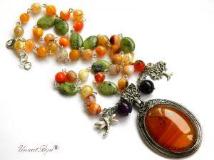 colier-lung-agat-orange-jad-serpentine-carneol-bijuterii-semipretioase-unicat-unicatbiju-libelula-argintata