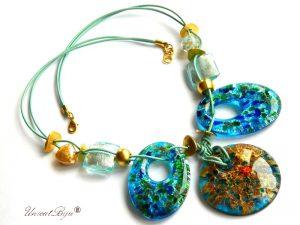 colier-murano-statement-perle-murano-foita-aur-piele-naturala-blue-turcoaz-unicatbiju-aurit