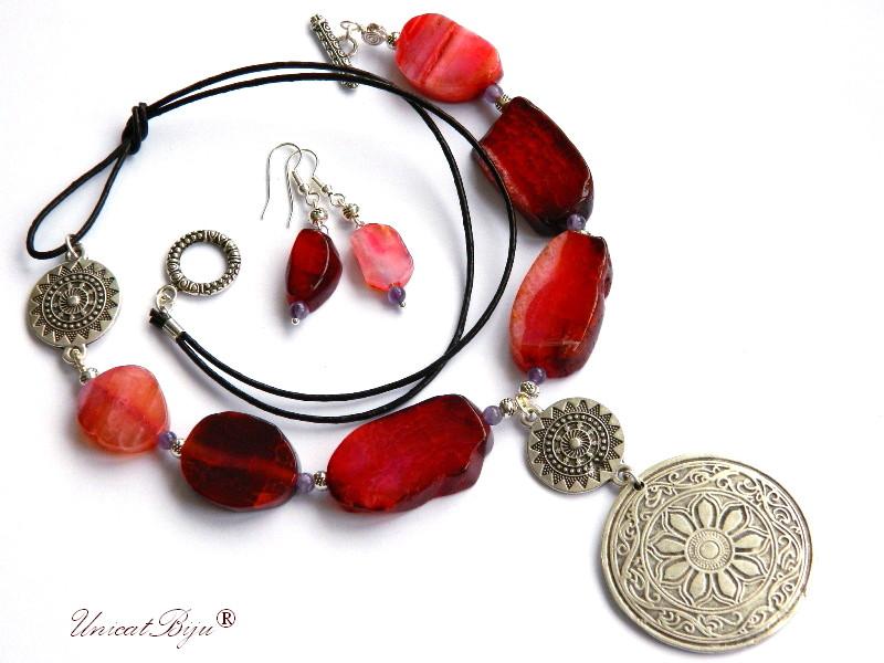 colier-statement-bijuterii-semipretioase-unicat-agat-masiv-ametist-salba-argintata-piele-naturala-unicatbiju