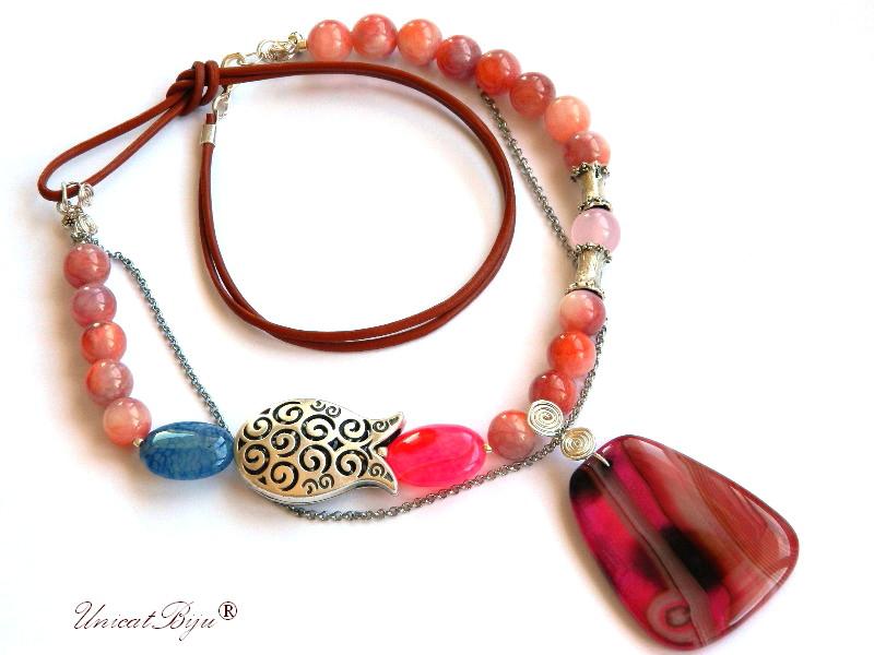colier-statement-lalea-argintata-cuart-roz-jad-candy-bijuterii-semipretioase-unicat-agat-albastru-unicatbiju