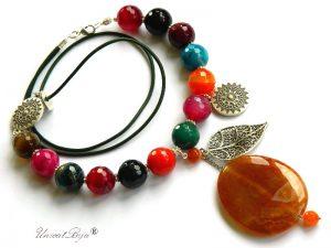 colier-agat-masiv-bijuterii-semipretioase-unicat-agat-multicolor-frunza-argintata-salba-unicatbiju
