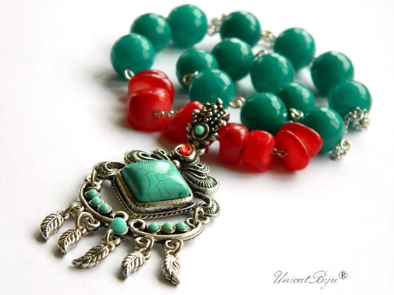 colier-amazonit-jad-rosu-bijuterii-semipretioase-unicat-turcoaz-boho-style-unicatbiju