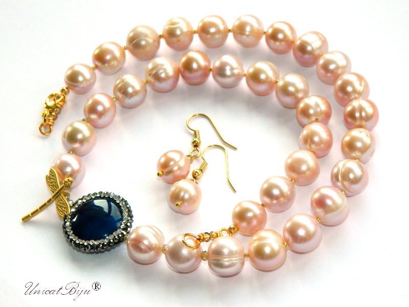 colier-perle-mari-sidef-natural-bijuterii-semipretioase-unicat-statement-libelula-aurita-agat-albastru-incrustat-cristale-unicatbiju