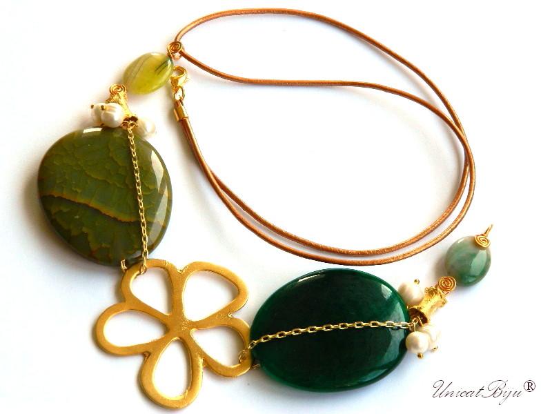 colier-statement-bijuterii-semipretioase-unicat-perle-sidef-natural-agat-verde-piele-naturala-unicatbiju