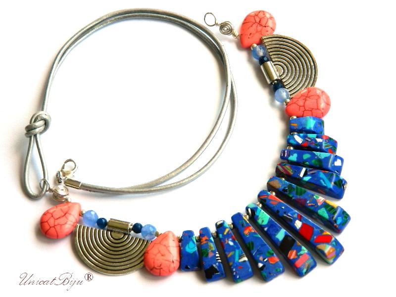 colier-statement-magnezit-multicolor-bijuteri-semipretioase-unicat-salba-argintata-albastru-unicatbiju